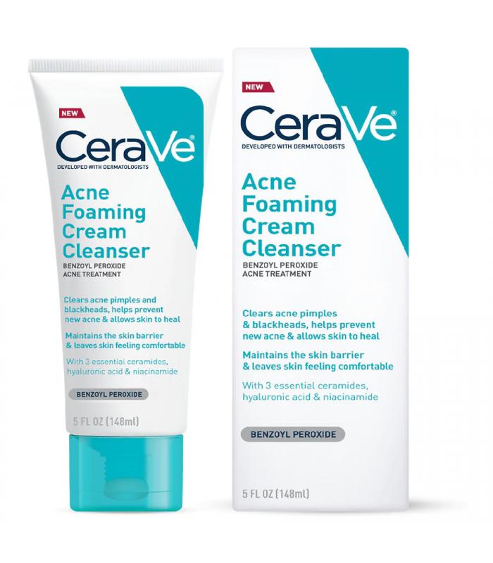 CeraVe Acne Foaming Cream Face Cleanser